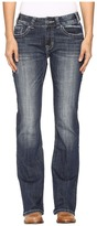 Rock and Roll Cowgirl Mid-Rise Bootcut Jeans in Dark Vintage W1-9619