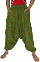 Sarjana Handicrafts Men's Cotton Harem Genie Dance Yoga Alibaba Hippie Pants