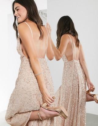 ASOS EDITION embellished cami midi dress