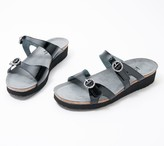 Naot Footwear Leather Embellished Buckle Slide Sandals - Kate