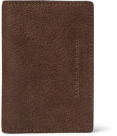 Brunello Cucinelli Full-grain Nubuck Bifold Cardholder - Brown