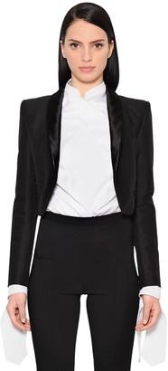 Antonio Berardi Cropped Cotton & Wool Blend Jacket