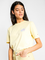 Tommy Hilfiger Summer Circle Signature T-Shirt in French Vanilla Yellow
