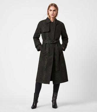 AllSaints Travis Wool Blend Trench Coat