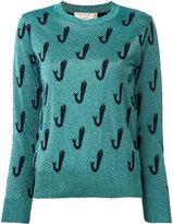 MAISON KITSUNÉ Shiny Fish jumper - women - Polyester/Viscose/Wool - XS