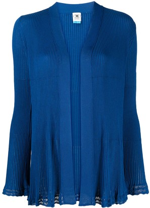 M Missoni Ribbed Ruffle-Trim Cardigan