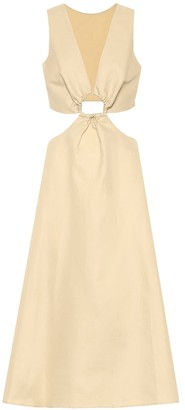 Cult Gaia Cybele linen and cotton midi dress