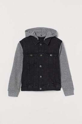 H&M Hooded Denim Jacket - Gray