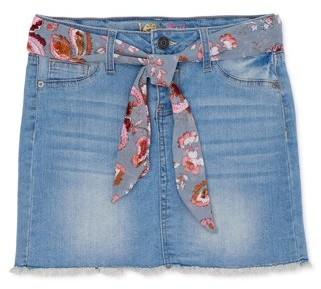 Lee Girls 7-16 Scarf Belted Denim Skirt