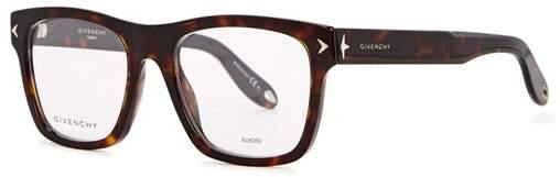 Givenchy Tortoiseshell Wayfarer-style Optical Glasses