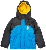 U.S. Polo Assn. Blue Tile & Black Puffer Coat - Toddler & Boys