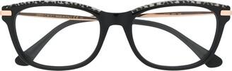 Jimmy Choo Eyewear Leopard Trim Glasses