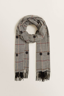 Seed Heritage Spotty Check Scarf