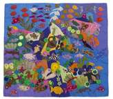 Handcrafted Peruvian Folk Art Wall Hanging, 'Underwater World'