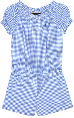 Polo Ralph Lauren Checked cotton playsuit