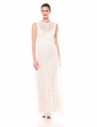 Tadashi Shoji Women's s/s lace and Crepe Gown