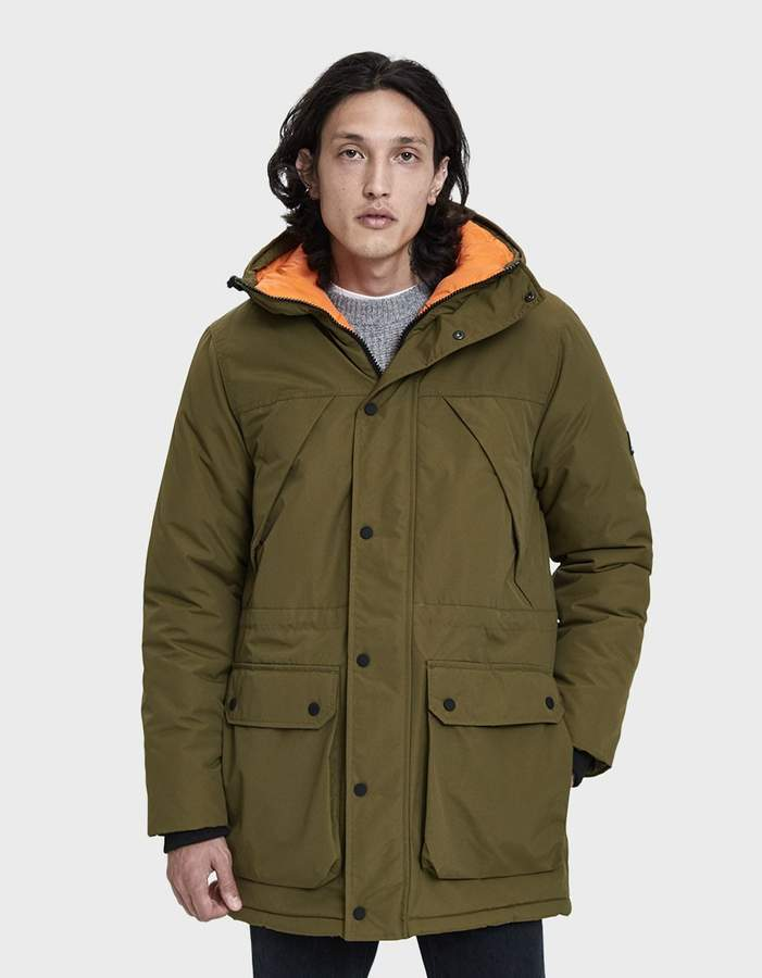 Penfield Kirby Hooded Parka in Dark Olive