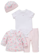 Little Me Four-Piece Floral Bodysuit Set