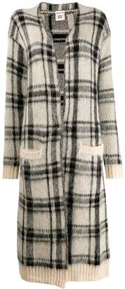 Semi-Couture Semicouture check print cardi-coat