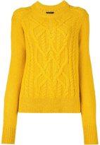 Isabel Marant 'Gabao' cable knit jumper - women - Polyamide/Alpaca/Merino - 38