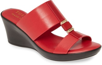 TUSCANY by Easy Street Benita Wedge Slide Sandal
