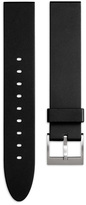 Uniform Wares Men's straight profile nitrile rubber watch strap in black with brushed steel buckle