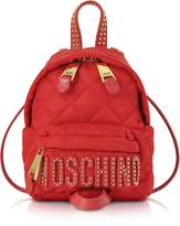 Moschino Red Quilted Nylon Mini Backpack w/Studs
