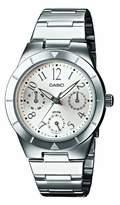 Casio LTP-2069D-7A2VEF Junior Analog Quartz Watch with Date Indicator and Steel Bracelet
