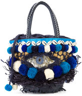 Figue Mini Ibiza Tuk Tuk bag - women - Cotton/Raffia/Leather/glass - One Size