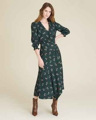 Veronica Beard Yasmeen Bouquet-Print Dress