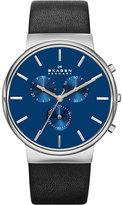 Skagen Skw6105 Ancher Leather Chronograph Watch