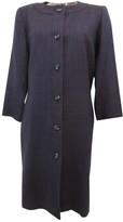 Saint Laurent Purple Wool Coat for Women Vintage