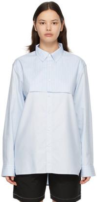 Ader Error Blue Striped Shirt