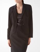Calvin Klein Essential Black Stretch Two Button Suit Jacket