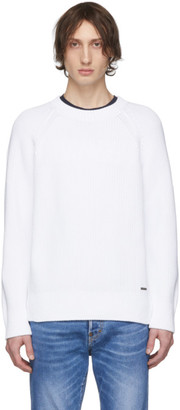 DSQUARED2 White Plain Pullover Sweater