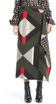 Fendi Women's Lozenge Print Wrap Skirt