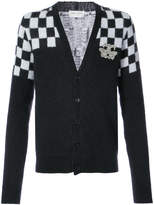 Saint Laurent check detail cardigan