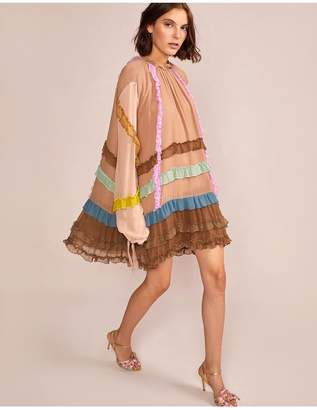 Cynthia Rowley Avery Mini Ruffle Trim Dress