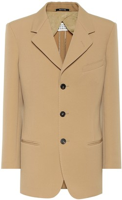 Maison Margiela Single-breasted crepe blazer