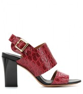 Chloé Croc-effect leather sandals