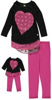 "Dollie & Me Big Girls' ""Confetti Hearts"" 2-Piece Outfit with Doll Outfit"