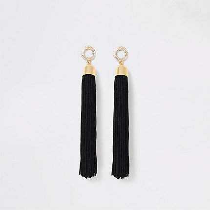 c84ba1cee6 Black Rhinestone Earrings - ShopStyle