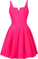 Halston fitted ruffled dress - women - Silk/Cotton - 2