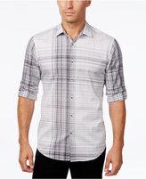 Alfani Men's Big and Tall Plaid Long-Sleeve Shirt, Slim Fit