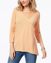 Alfred Dunner Still My Sunshine Beaded Top
