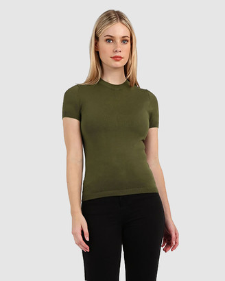 Forcast Women's Workwear Tops - Catherine Short Sleeve Knit - Size One Size, XS at The Iconic