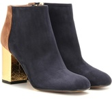 Marni Suede and leather ankle boots