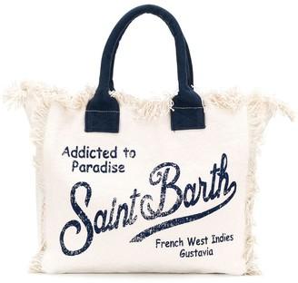 MC2 Saint Barth Fantasia fringe trim tote