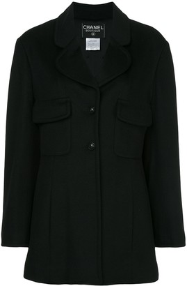 Chanel Pre-Owned single-breasted coat