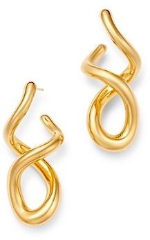 Bloomingdale's Twisted J Hoop Earrings in 14K Yellow Gold - 100% Exclusive